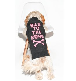 Skull Cashmere BAD TO THE BONE SKULL DOG SWEATER