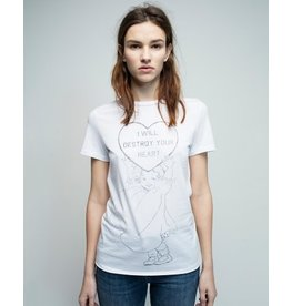 Zoe Karssen I WILL DESTROY YOUR HEART LOOSE FIT TEE