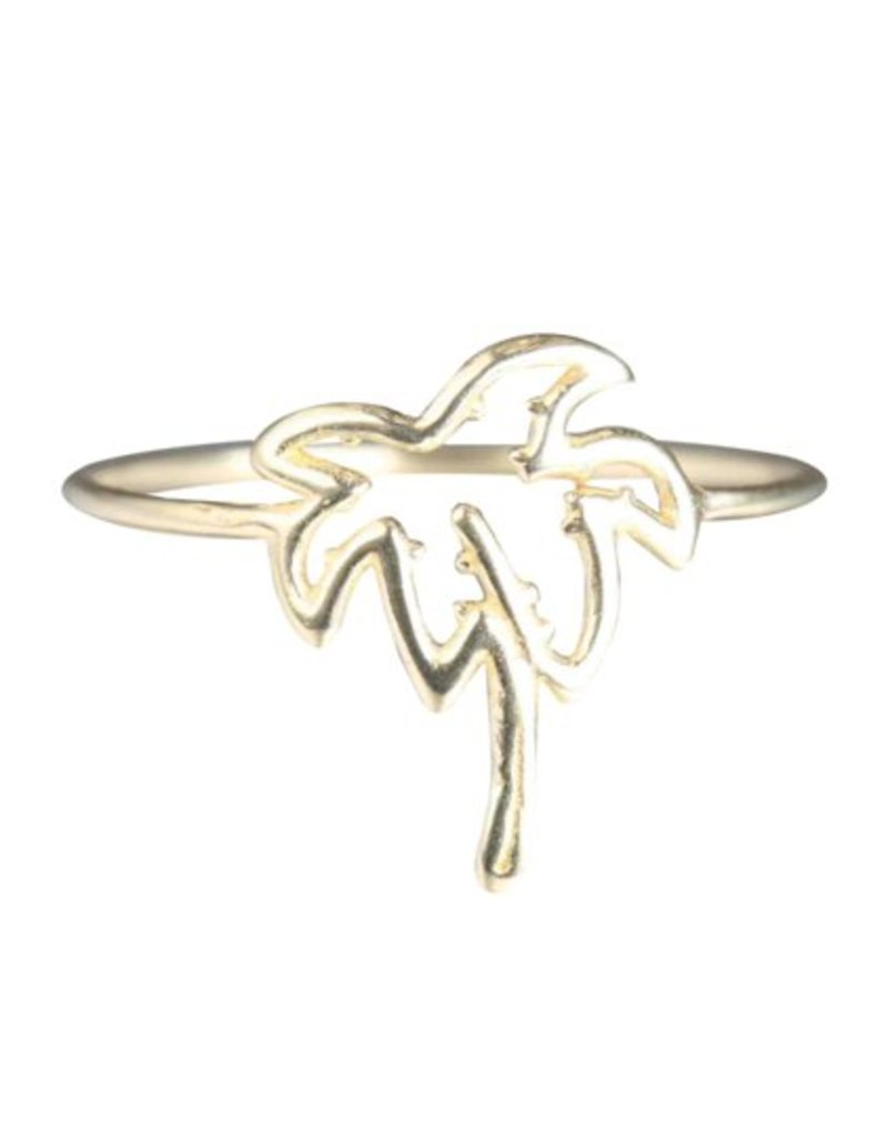 Verameat PALM TREE RING IN STERLING SILVER