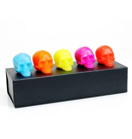 D.L. & CO. BRIGHT COLOR MINI SKULL SET OF 5