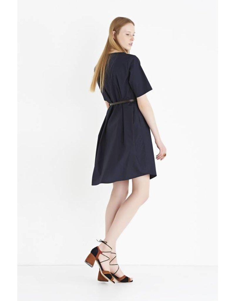 ottod'Ame FLARED DRESS IN COTTON POPLIN