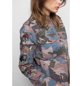 Zadig & Voltaire KAVY EMBROIDERED CAMO JACKET