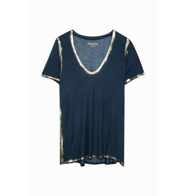 Zadig & Voltaire TINO GOLD SPI TEE