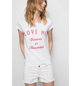 Zadig & Voltaire MARRIAGE SKINNY SLUB BIS TEE