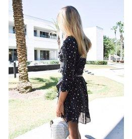 Zoe Karssen STARS ALL OVER SLIM FIT WRAP DRESS