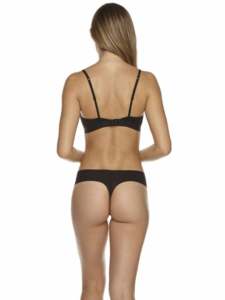 COSABELLA AIRE LOWRIDER THONG BLACK & NUDE