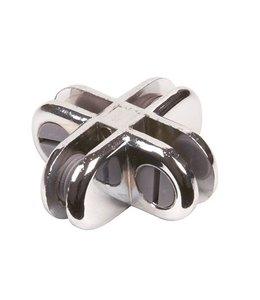 4 way metal cube connector