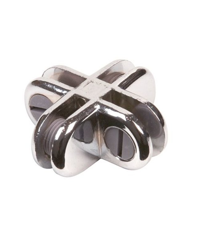 Raccord en métal 4 voies