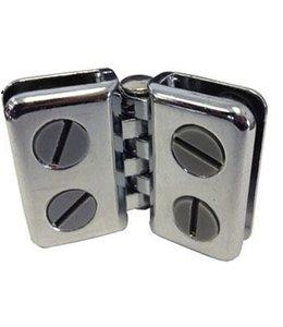 Metal double hinge chrome