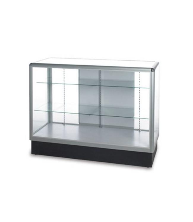 Full vision glass counter aluminum