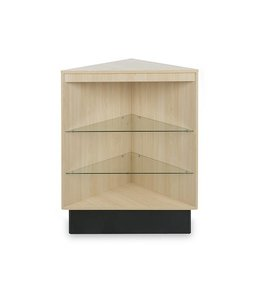 Open corner display case melamine