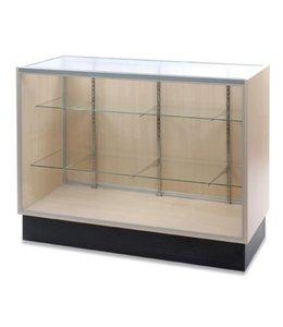 Full vision glass counter melamine panel side
