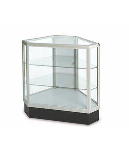 Comptoir vitré hexagonal pleine vision