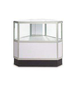 2/3 vision hexagonal glass counter aluminum