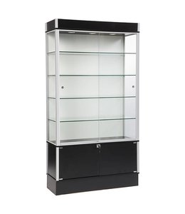 """42"""" x 16"""" x 78""""H wall display case with storage"""