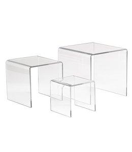 """Petits podiums carrés 3"""" / 4"""" / 5"""", ensemble de 3"""