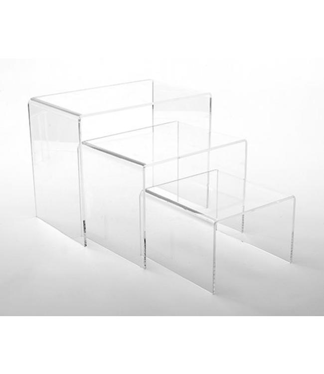 Large rectangular risers, set of 3
