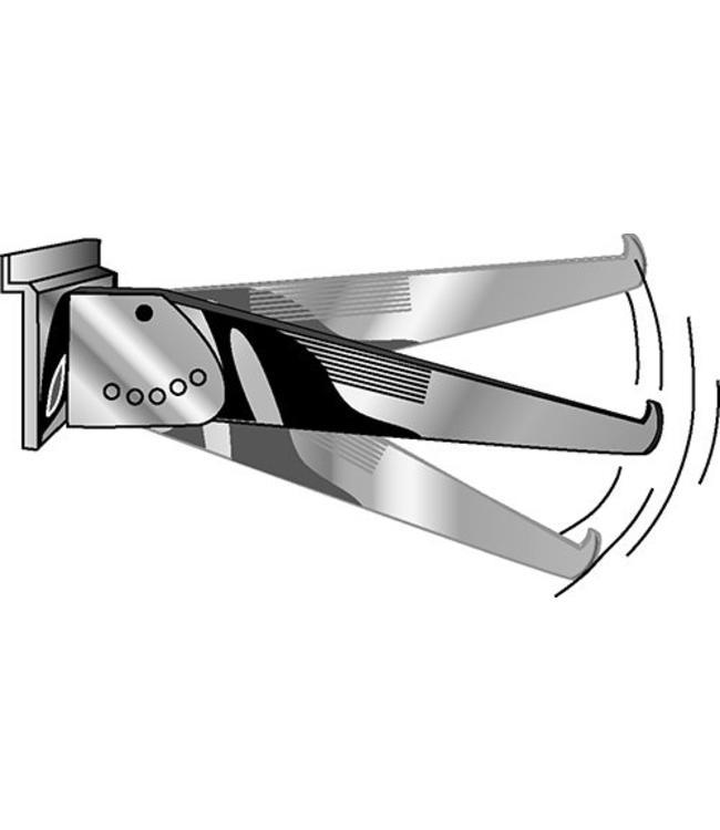 Adjustable 5 positions shelf bracket for slatwall