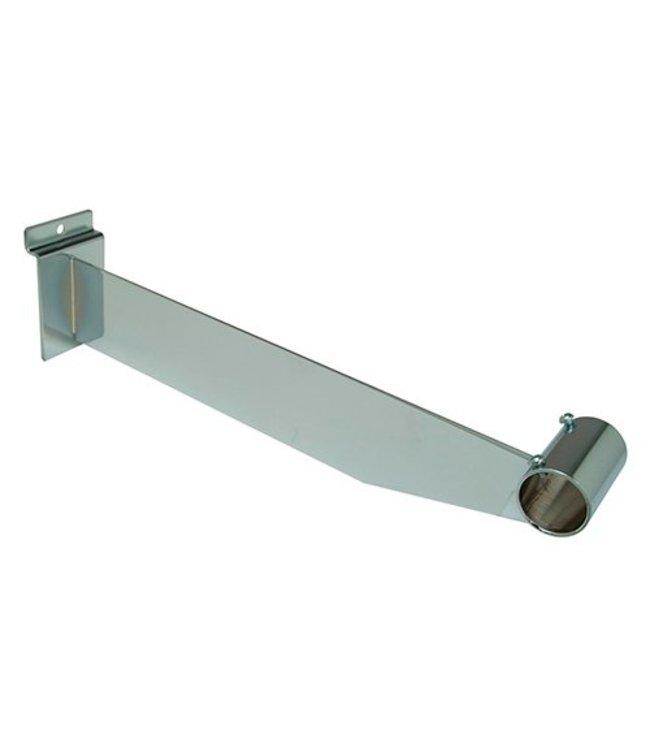 """Hangrail bracket 12"""" for round tubing 1"""" & 1-1/16"""" for slatwall"""