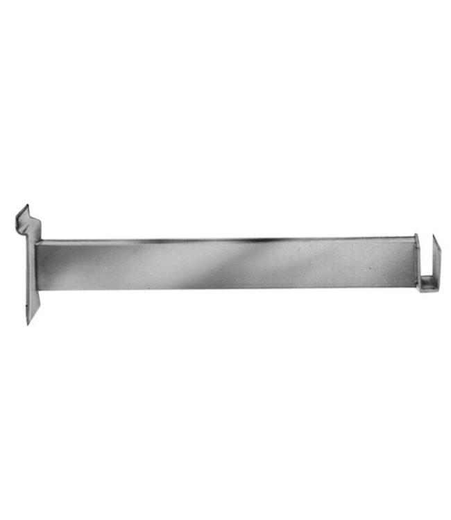 """Slatwall 12"""" hangrail bracket for rectangular tubing 4509"""