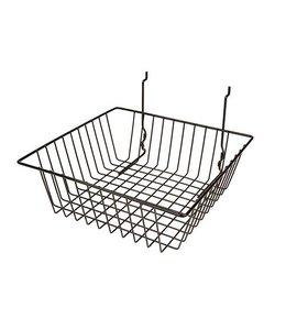 "Basket 12""x12""x4""H slatwall/pegboard/grid"