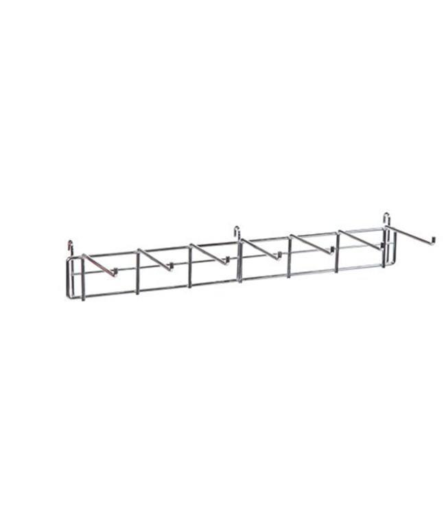 """24"""" wide  belt holder for grid 7 hooks of 5.5'', chrome"""