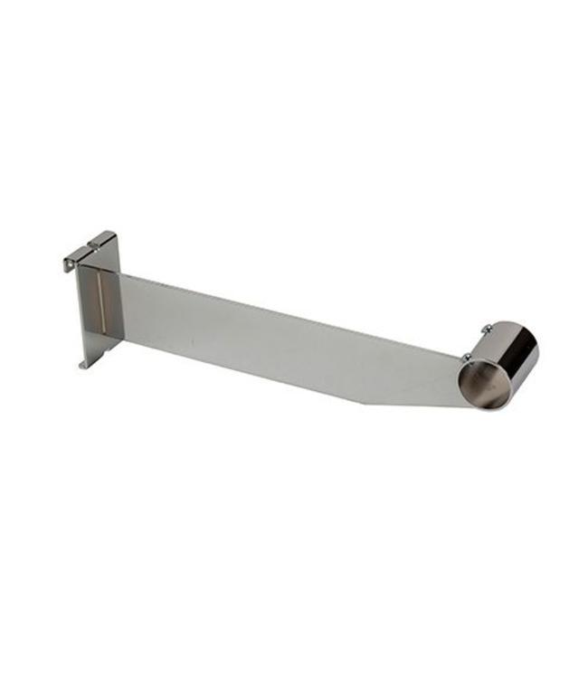 "12"" Hangrail bracket for 1-1/4"" à 1-5/16"" diametre round tubing, chrome"