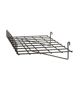 "Shelf wire straight 24"" x 15"" with 3"" lip for grid"