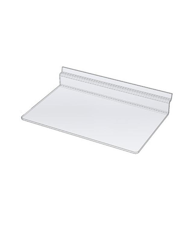 Shelf acrylic 10'' x 6'' for slatwall