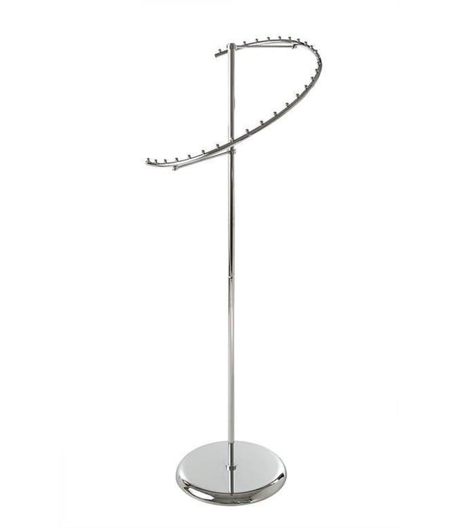 "Porte-vêtements en spirale 29 boules, 18"" diamètre, 67""H, chrome"