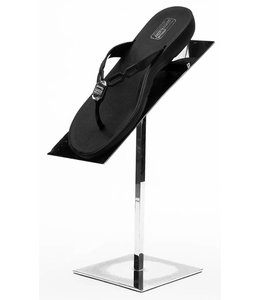 Chrome shoe stand 12''H