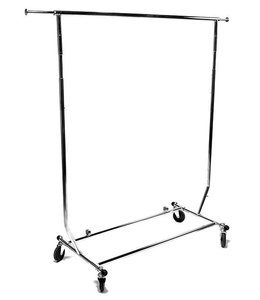 "Collapsible garment rack adjustable with 12"" pull out arms"