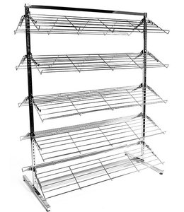 "Double sided shoe rack 48""x24""x60""H chrome"