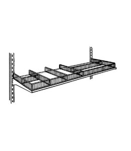 Metal shelf, subdivider