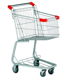 "Small shopping cart, 80 liters, 24.25"" X 15.75"" X 34.25"""