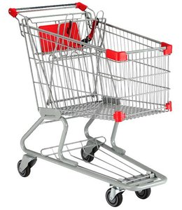 "Large shopping cart, 151 liters, 36.5"" X 18.5"" X 36.25"""