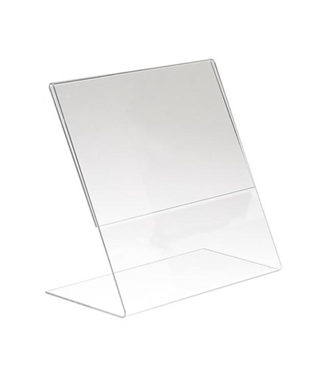 "L shape sign holder 11"" x 8.5"" H, acrylic"