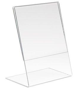 """Porte-affiche en L 8.5"""" x 11""""H vertical, acrylic"""