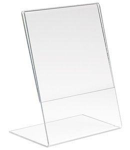 """Porte-affiche en L 5.5"""" x 7""""H vertical, acrylique"""