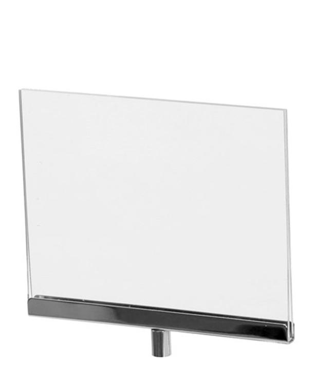 Horizontal acrylic sign holder 7''x 5.5'' H