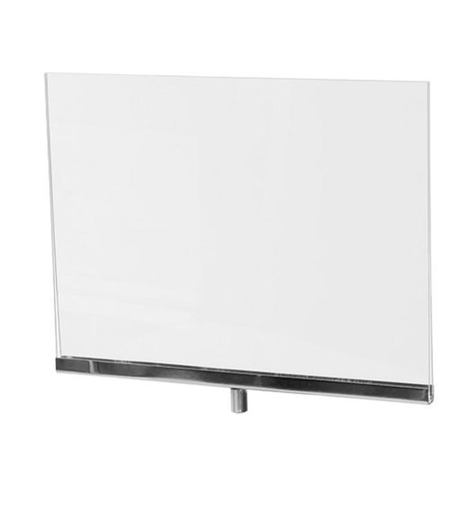 """Porte-affiche horizontal en acrylique 11"""" x 8.5"""" H"""