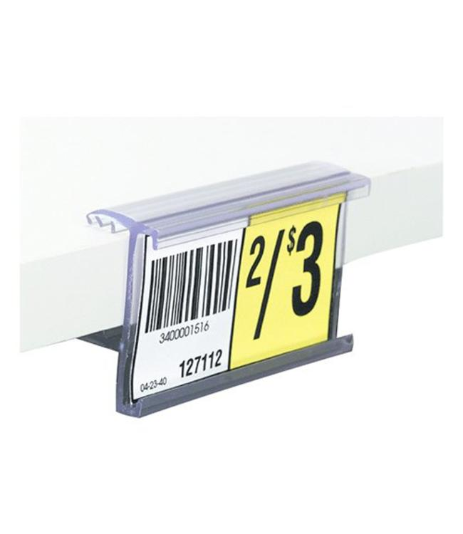 "Price holder 1-1/4""H for shelf of  5/8'' or 3/4'' thick"