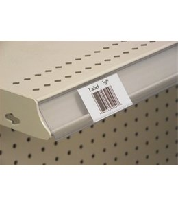 Price holder for metal shelves with chanel 47,5'' x 1¼ H,  clear back