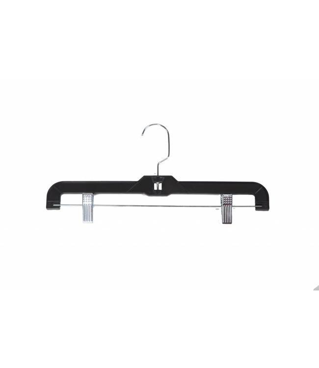 "Plastic hanger for pants 11""/14"" clear or black"