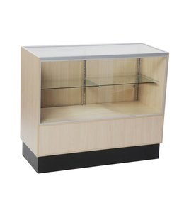 2/3 vision glass counter melamine panel side