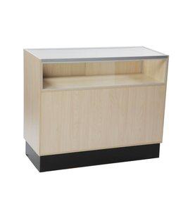 1/3 vision glass counter melamine panel side