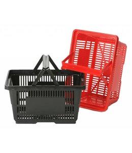 """Panier de magasinage 28 litres en plastique 18-7/8""""x 12-3/4""""x 9-7/8""""H /2 poignées"""