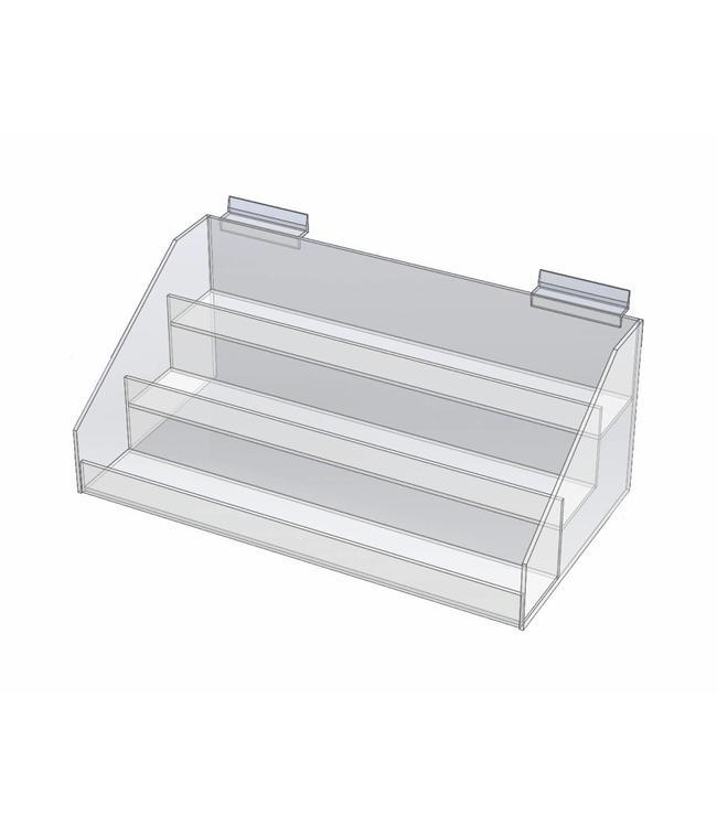 Présentoir 3 niveaux 15'' x 8'' x 6' H, comptoir ou SW , acrylique
