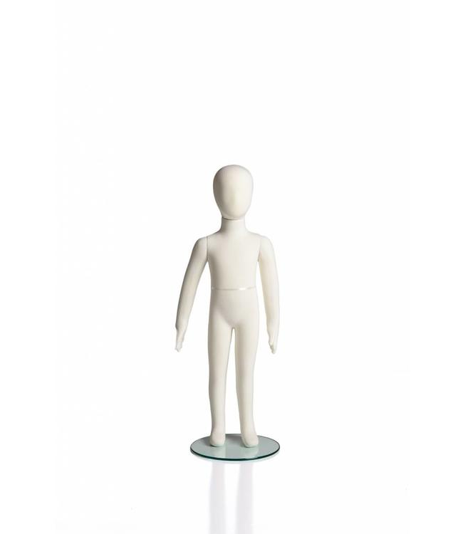 "6 years old kid flexible mannequin, 41""H cream fabric"