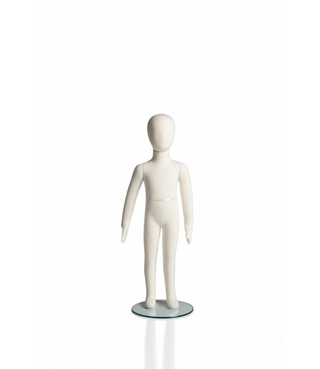 """4 years old kid flexible mannequin, 37""""H cream fabric"""